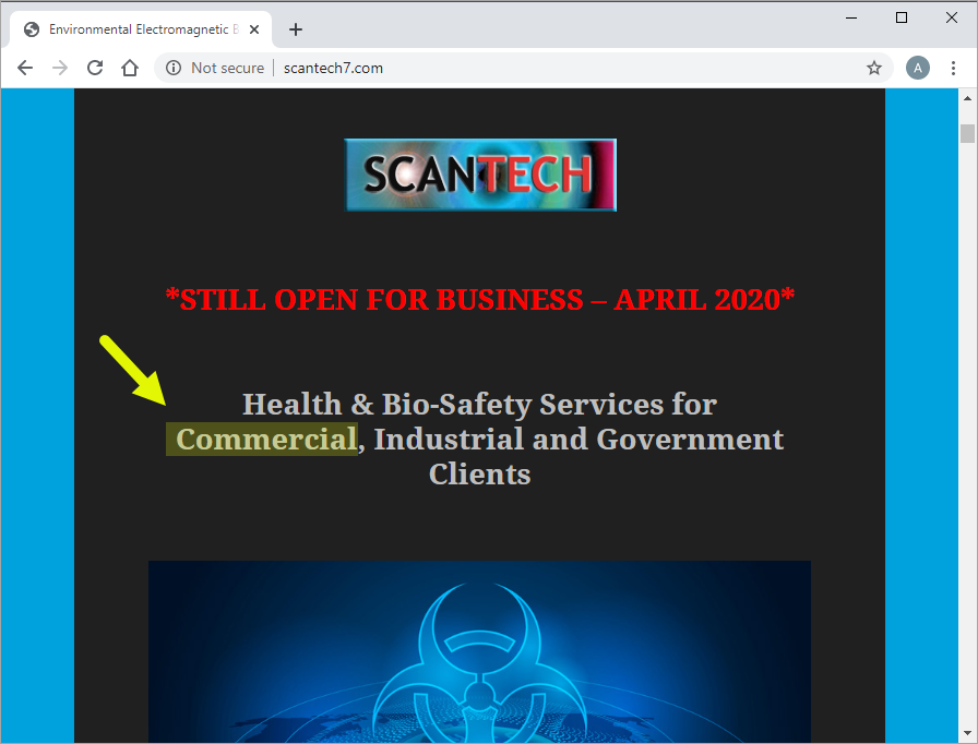 ScanTech Website