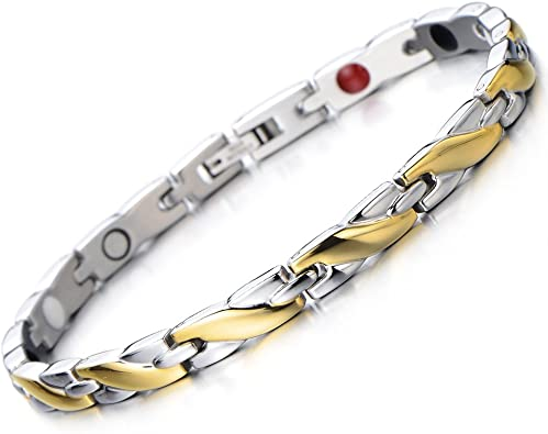 COOLSTEELANDBEYOND Ladies Magnetic Bracelet
