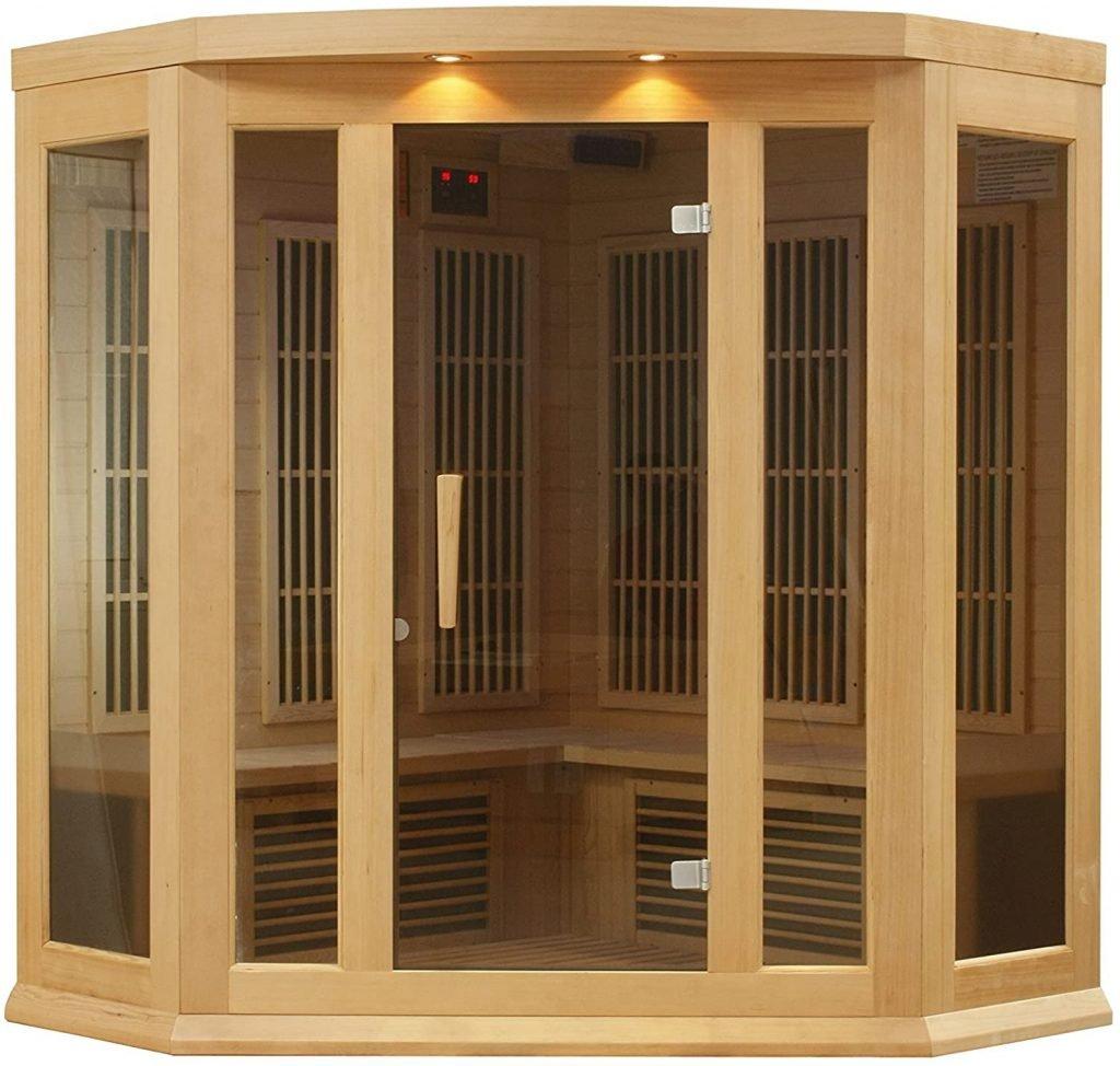 Maxxus 3-Person Low EMF FAR Infrared Canadian Hemlock Sauna