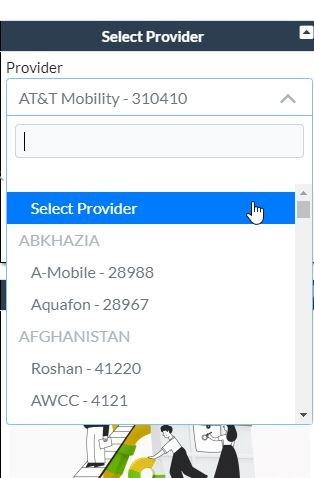 Select Provider ATT 1