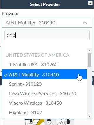 Select Provider ATT 2