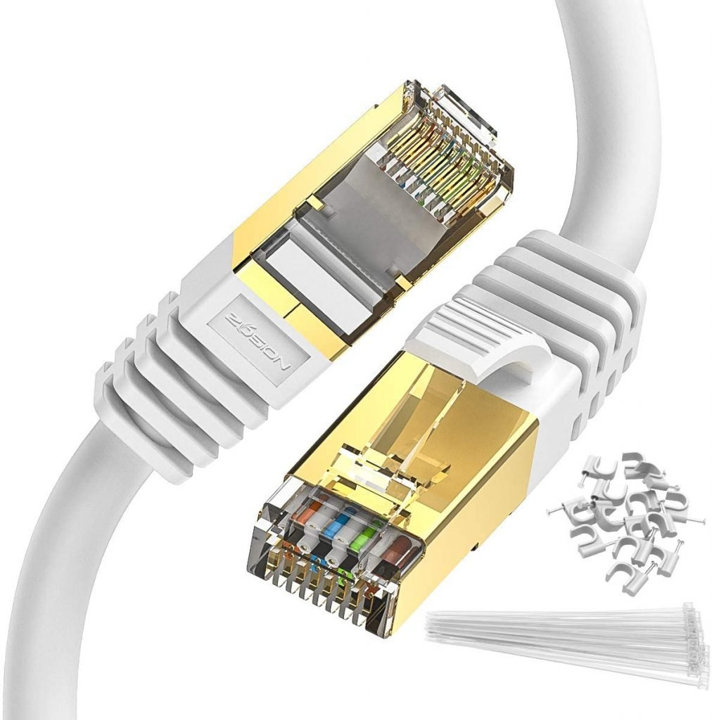Zoison Ten Foot Shielded Ethernet Cable