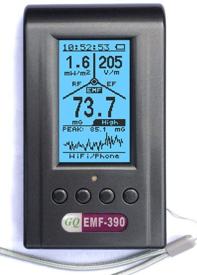GQ EMF Meter with Data Logger and Spectrum Analyzer