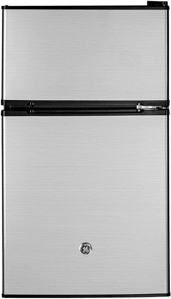 GE Appliances Freestanding Double Door Compact Refrigerator