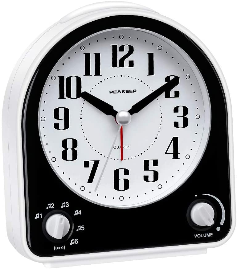 Peakeep Non-Ticking Silent Alarm Clock