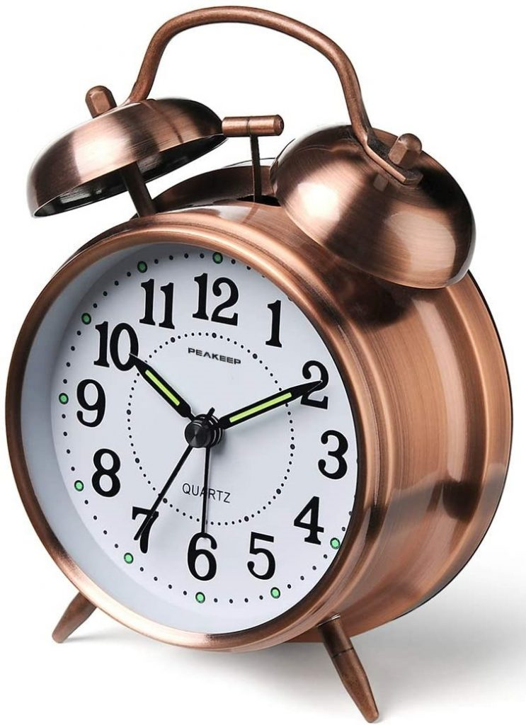 Peakeep Twin Bell Alarm Clock For Heavy Sleepers