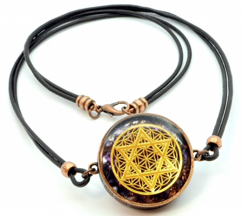 ZZYBIA Star of David & Flower of Life Pendant